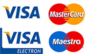Visa, Mastercard & Maestro Accepted